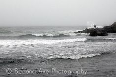 Fine Art Black and White Fishing at Montauk Point (Long Island, New York) by SecondAvePhotography, $28.00