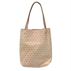 I love a perforated leather tote. I missed out on the Loeffler Randal one from a while back but this might be worth the splurge. #leather #dots #bag