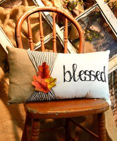 Look what I found on #zulily! 'Blessed' Lumbar Pillow by The Round Top Collection #zulilyfinds