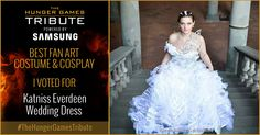 I voted for Katniss Everdeen - Wedding Dress as Tribute for The Hunger Games Tribute Awards #TheHungerGamesTribute  tribute.thehungergames.movie