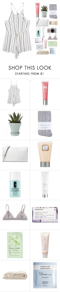 """""Lost in thoughts,caught in daydreams"""" by chanel-xox ❤ liked on Polyvore featuring Origins, Chive, Johnstons, Michael Kors, Laura Mercier, Clinique, Kerstin Florian, Korres, H&M and Aveda"
