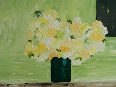 Mother's Day Bouquet  11x 14  $150.00 Palette knife painting by Sue Schenck