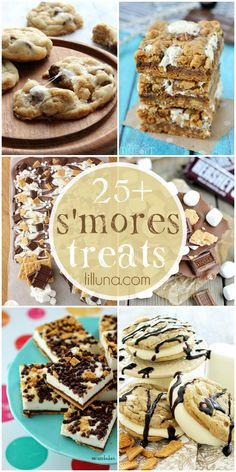 A yummy collection of 25+ delicious s'mores treats - MUST check them out on { lilluna.com }