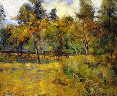 Meadow and Trees Paul Gauguin - 1884