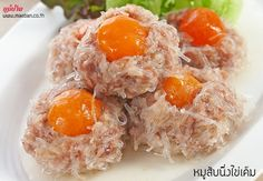 Healthy Thai Recipes, Clean Recipes, Diet Recipes, Thai Dishes, Side Dishes, Authentic Thai Food, Kinds Of Soup, Thai Street Food, Salted Egg