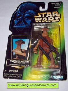 star wars action figures MOMAW NADON HAMMERHEAD photo green card power of the force 1996 hasbro toys moc mip mib