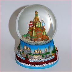 snow globes from germany Water Globes, Snow Globes, St Basil's, Glass Globe, Snowball, Music Boxes, Sculptures, Christmas, Gifts