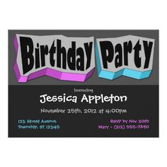 430 best blue purple birthday party invitations images on pinterest