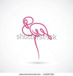 Flamingo - vector illustration by Petrovic Igor, via ShutterStock