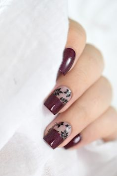 Marine Loves Polish: Nailstorming - Automne - autumnal negative space - cbl obsessed with marilyn