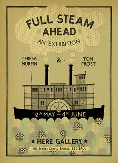 Poster for the Teresa Murfin and Tom Frost joint exhibition of original art at Here Gallery, Bristol.
