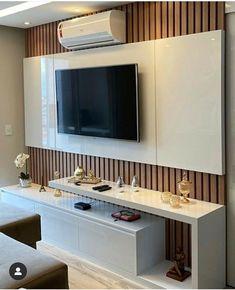 Modern Tv Room, Modern Tv Wall Units, Wall Unit Designs, Living Room Tv Unit Designs, Tv Cabinet Design, Tv Wall Design, Lcd Panel Design, Tv Unit Interior Design, Tv Unit Furniture