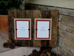 Large Double Plank Frame for 5x7 pictures  by DevenieDesigns