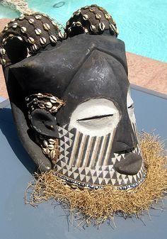 African Mask from Kuba people, Congo, West Africa