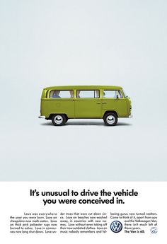 Vw van 60 years Ad