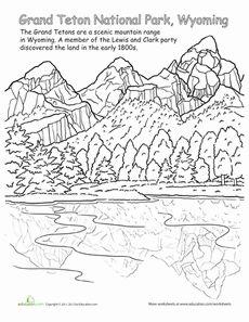 Grand Teton National Park Worksheet