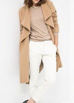 MINIMAL + CLASSIC: camel & white / Zara