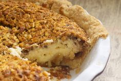 Pecan Cheesecake Pie! The two fillings for this pie are amazingly simple and quick to whip up. You can make your own pie crust or go the store-bought route with this one. Just be sure to use a deep dish pie plate, as there is a lot of filling. Great for the holidays!
