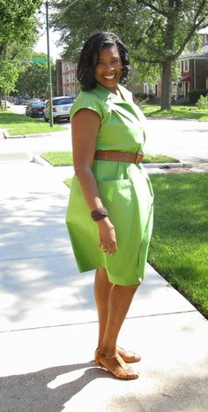 Summer Time Dress in Lime Cotton Poplin | Mood Sewing Network