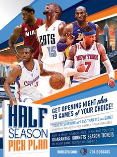 Charlotte Bobcats email marketing campaign - half season pick plan - pick a star