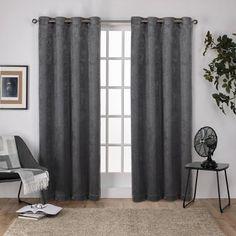 Exclusive Home Eglinton Woven Blackout Grommet Top Curtain Panel Pair 52x108 Exclusive Home Curtains EH8008-07 2-108G Indigo