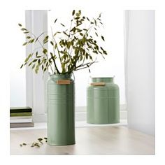 IKEA - SOCKER, Vase, set of 2, Suitable for both indoor and outdoor use.Can be stacked inside one another to save room when storing.