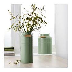 SOCKER Vase sæt med 2, grøn indendørs/udendørs grøn - IKEA
