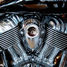 Chrome Modern Style Monochrome Flames Horn Cover Installed