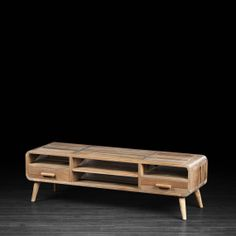 Retro TV Unit Made Of Teak Wood | Television And Media Console Stand  Inspired By The