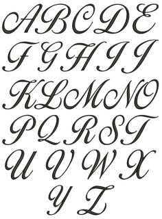 1000 ideas about tattoo lettering alphabet on pinterest How to write calligraphy letters az