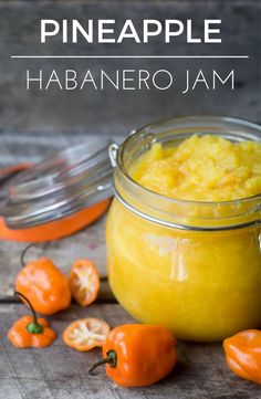 Pineapple Habanero Jam is a super sweet/hot jam that transforms cheese and crackers into a culinary experience!