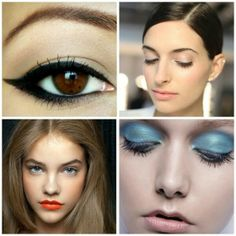 Make up Trends for 2014 Cat Eye, Orange lips, Spring colored eye shadow.