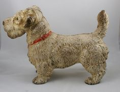 Hubley Sealyham Terrier dog door stop
