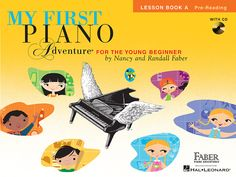 Written for ages 5 and 6, My First Piano Adventure® captures the child's playful spirit. Fun-filled songs, rhythm games and technique activities develop beginning keyboard skills. Three distinguishing features of the Lesson Book A make it unique and effective for the young 5-6 year old beginner. 1. A strong focus on technique embedded in the book through playful technique games, chants, and carefully-composed pieces that gently lead the child into pianistic motions. 2. An outstanding CD for…