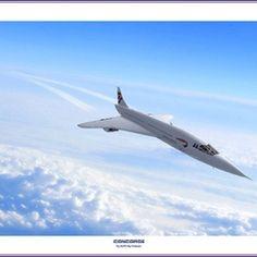Concorde in flight.