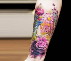 Flowers tattoo by Versus Ink