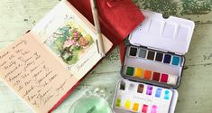 Just Because - Dreama Tolle Perry Art Prima Watercolor, Watercolor Journal, Art Journal Inspiration, Journal Ideas, Online Art Courses, Vintage Train Case, Painting Courses, Pack And Play, French Countryside