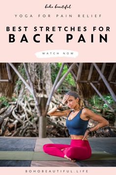 Back Yoga Stretches, Back Pain Exercises, Best Stretches, Stretching Exercises, Workout Songs, Workout Videos, Chico Yoga, Yoga For Beginners, Beginner Yoga