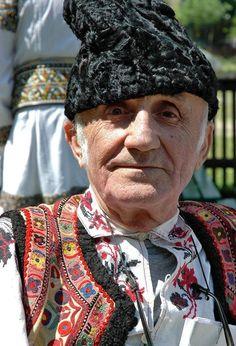 Man wearing a traditional costume in Timisoara Romania