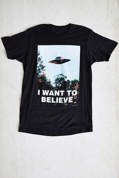 (Size: m) The X-Files I Want To Believe Tee - Urban Outfitters