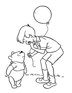 christopher robin coloring pages - 1000 images about winnie the pooh coloring pages on