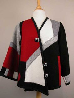 Sweatshirt into Jacket Pattern  - I have got to try this!