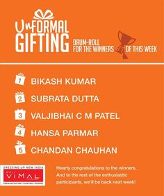 Spreading Happiness!   Congratulations to all the winners who have won The Unformal Gifting this week. Don't forget to DM us your contact details.