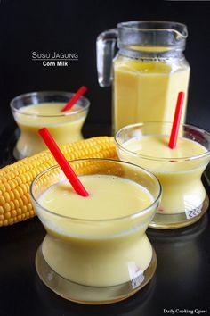 Vietnamese Recipes – Home-made Gluten-free Diet of Sweet Corn Milk – Sua Bap Vietnamese Recipes, Asian Recipes, Ethnic Recipes, Vietnamese Food, Milk Recipes, Raw Food Recipes, Corn Recipes, Punch Recipes, Food Tips