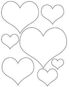Free Heart Template - Bits Of Everything: Heart Attack Felt Crafts, Diy And Crafts, Paper Crafts, Applique Templates, Applique Patterns, Valentine Heart, Valentine Crafts, Heart Template, Doodle Designs