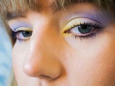 Purple Day, Pastel Makeup, Pretty Makeup Looks, Dramatic Effect, Pastel Palette, Beauty Bay, Holographic Glitter, Pastel Shades, Color Effect