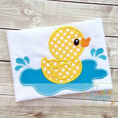 Rubber Duck Applique rubber-duck-ducky-birthday-number-embroidery-applique-set