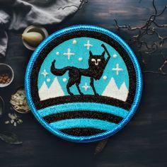 Suerte lobo Patch (gratis envío nosotros) brillan en la oscuridad