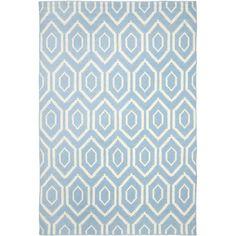 Safavieh Dhurries Hand-Woven Blue Area Rug & Reviews | Wayfair UK