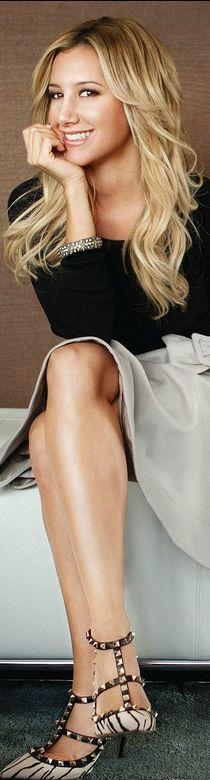 Ashley Tisdale:  Dress – Paule Ka    Shoes – Valentino